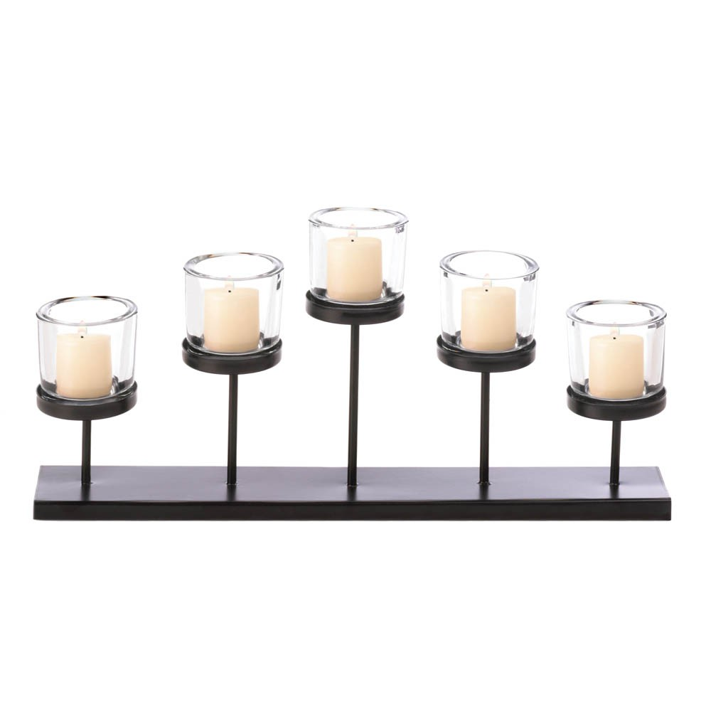 Pedestal candle centerpiece holder table mantel metal for Mantle holders