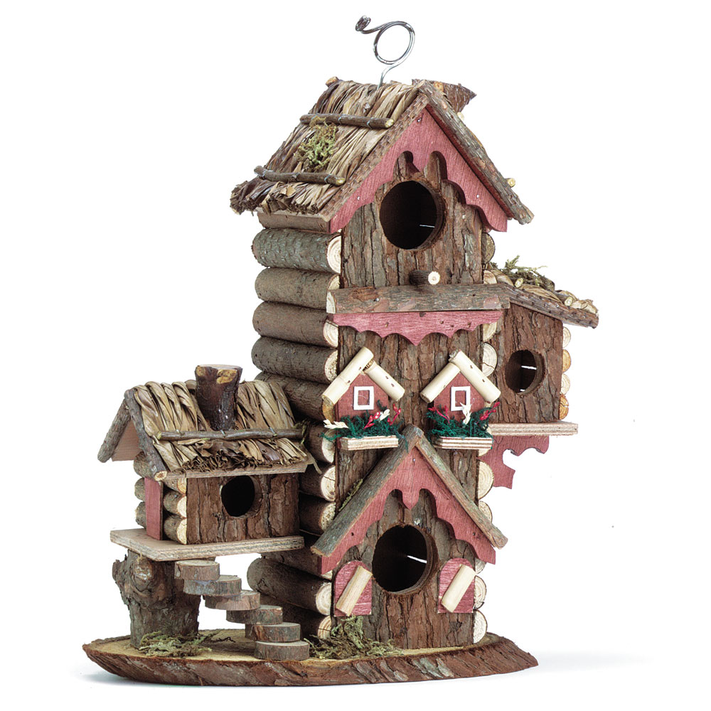 Decorative wooden gingerbread style bird house wood for Bird house styles