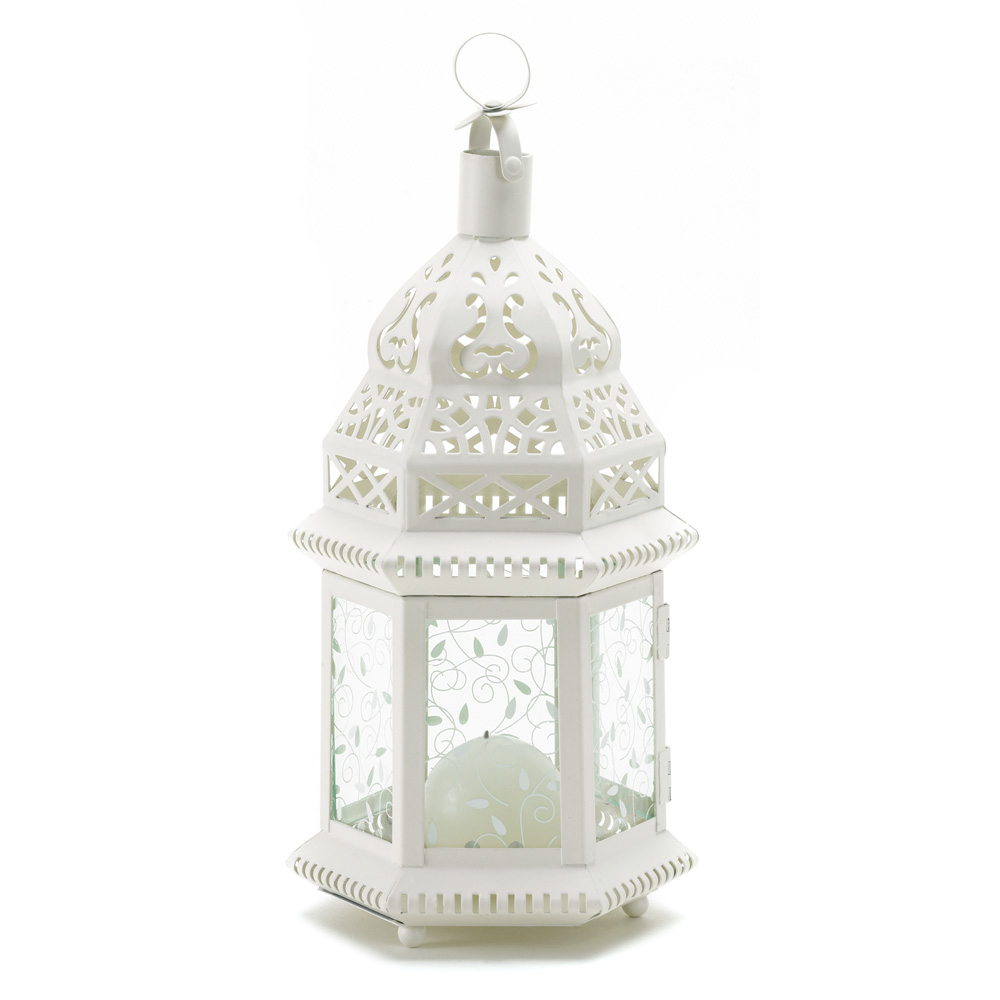 white railroad wedding candle lantern 9 tall set of two. Black Bedroom Furniture Sets. Home Design Ideas