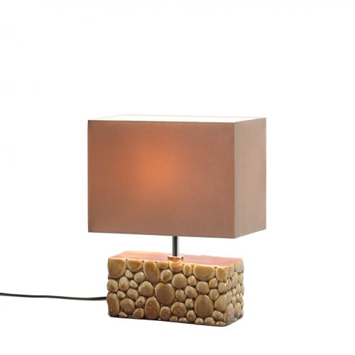 Gorgeous Smooth Rocks Table LAMP