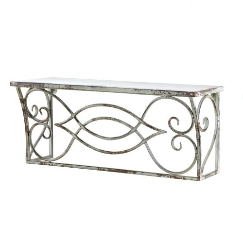 Home Locomotion Large Scrollwork Wall Shelf