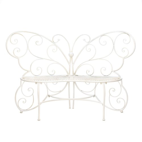 Home Locomotion White Butterfly Garden Bench at Sears.com