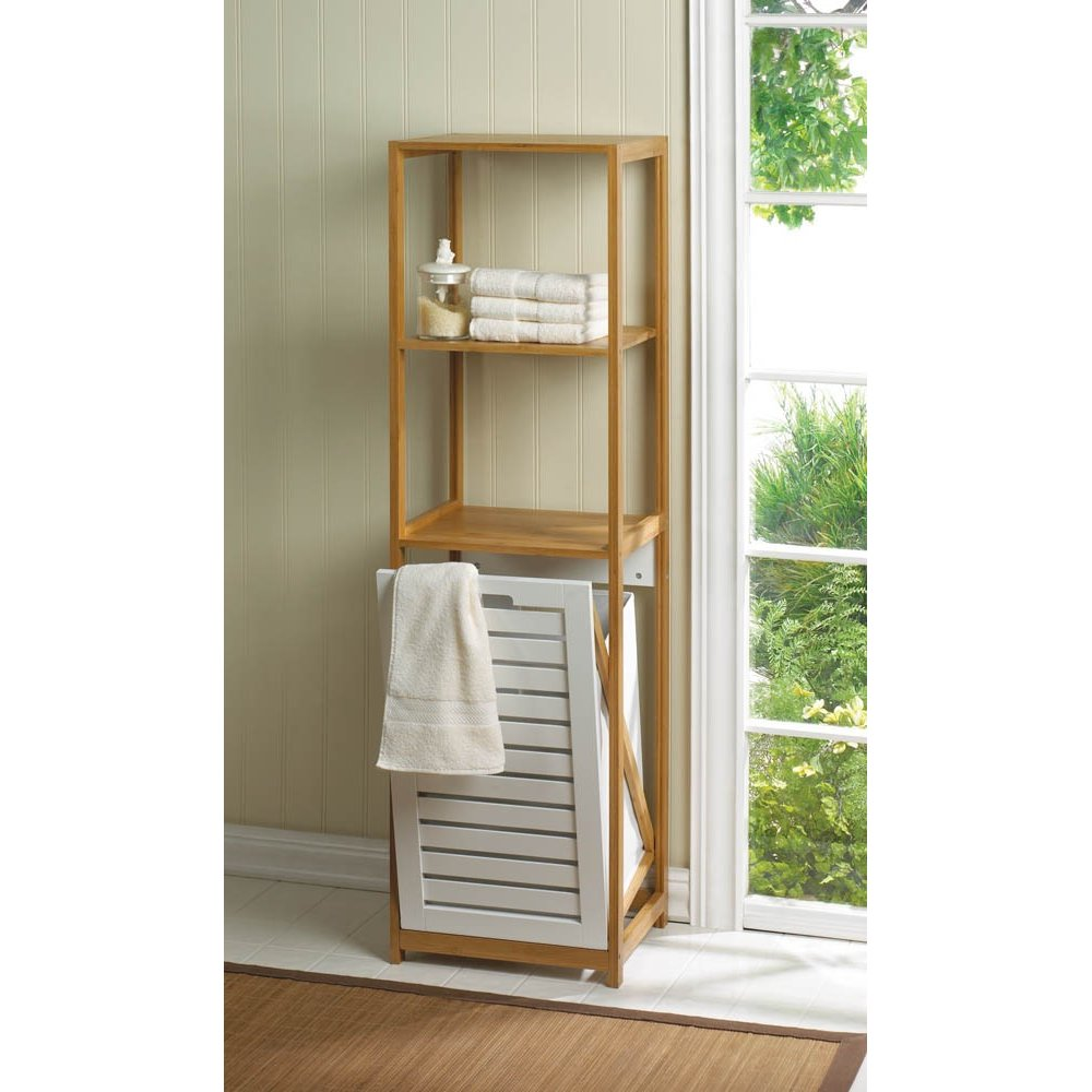 Home Locomotion Bamboo Shelf With Built In Clothes