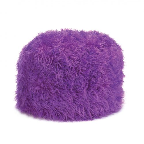 Fuzzy Ottoman Orchid Pouf New Home Decor Soft Backrest ...