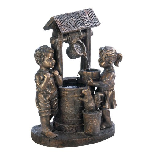 Wishing Well Fountain Outdoor Fiberglass