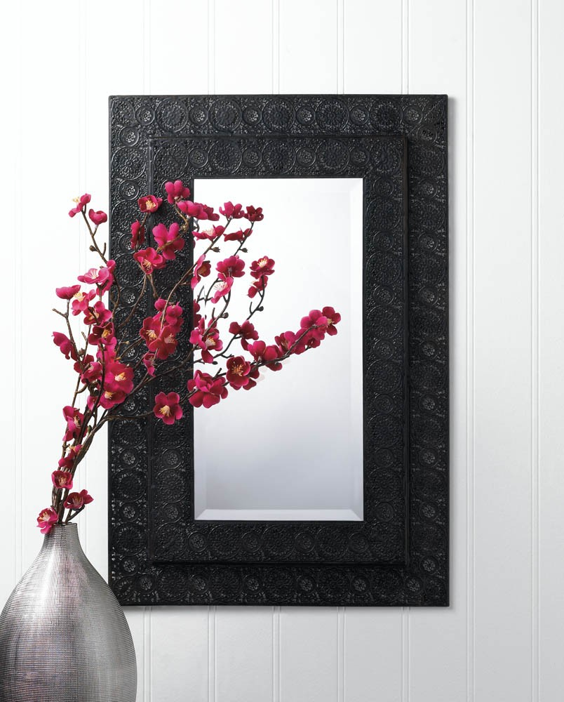 Wall Art With Mirror Frame : Moroccan framed wall mirror beveled iron mirrors home