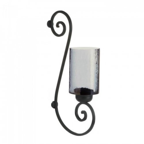 Smoked Glass Wall Sconce