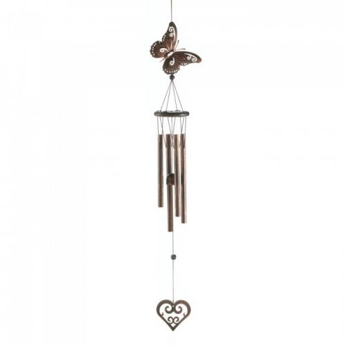 butterfly heart windchime