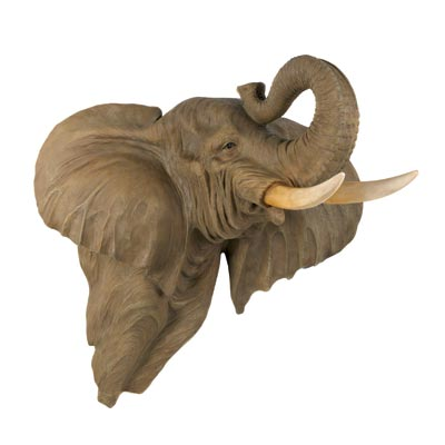 Realistic african elephant head wall art decor large African elephant home decor