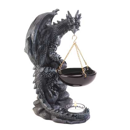 Home Locomotion Chiseled Dragon Oil Warmer