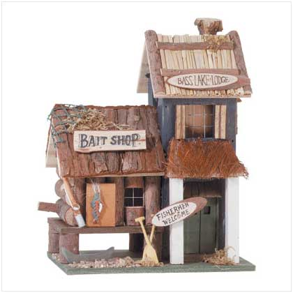 'bass Lake Lodge' Birdhouse