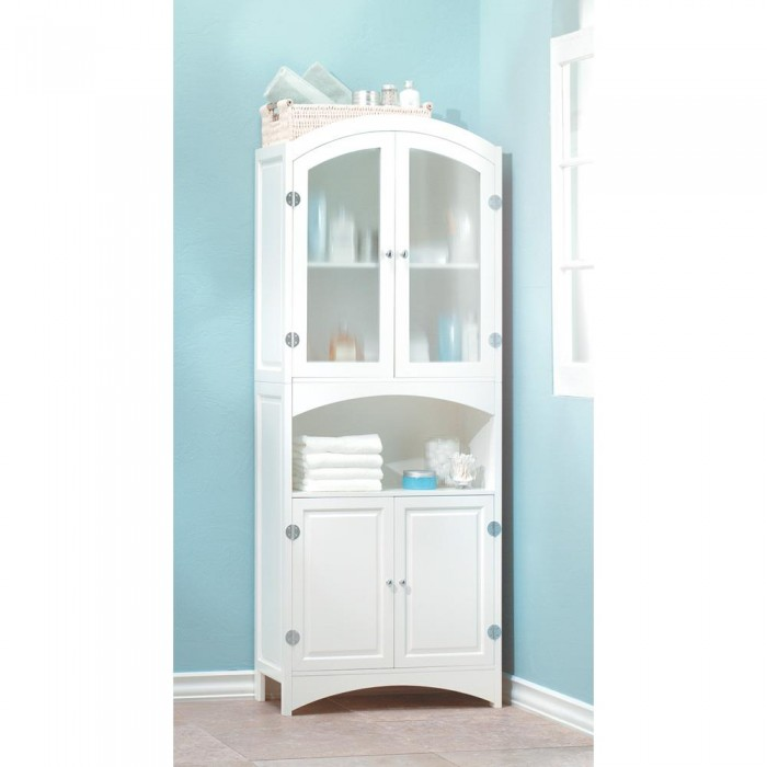 Linen Cabinet Storage Bathroom Kitchen Pantry Tall White Cupboard Organizer New Ebay