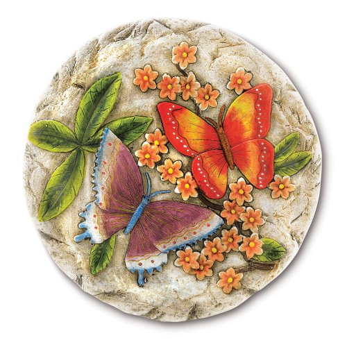 Bright Butterfly Stepping Stone Cement Yard Garden Patio Path Flower Clearance Ebay