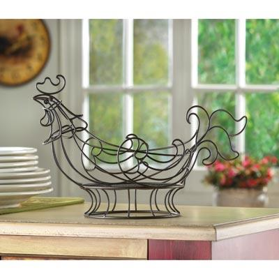 Decorative Kitchen Items Curved Copper Colored Wire Shapes An Adorable