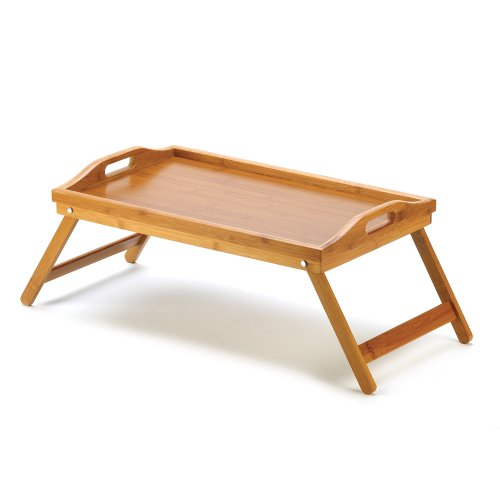 New bamboo serving tray folding lap desk table laptop - Plateau petit dejeuner ikea ...