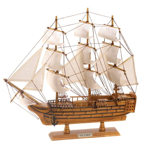 Ship model boat theme wood wooden kit sailing art nautical for Ship decor home