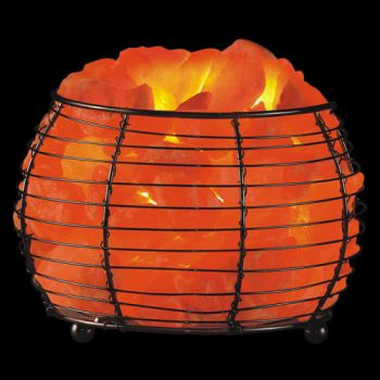 Do Salt Lamps Help Asthma : Himalayan Salt Round Basket Lamp