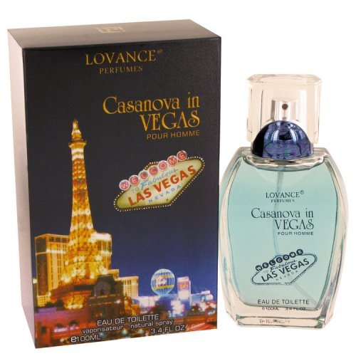 Casanova in Vegas by Lovance Eau De Toilette Spray 3.4 oz