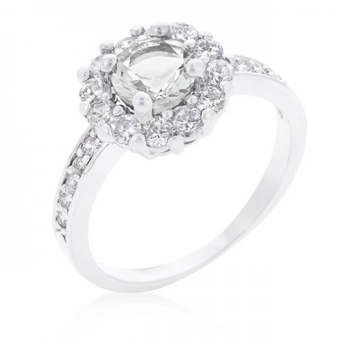 Bella BIRTHSTONE Engagement Ring in Clear (Size: 06)