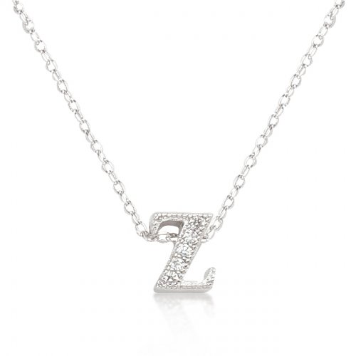 Micro pave Initial Z Pendant