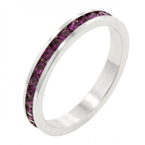 Stylish Stackables with AMETHYST Crystal Ring (Size: 06)