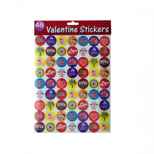 48pk valentine STICKERS