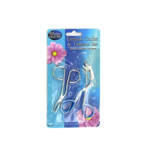 Eyelash curler and tweezers set