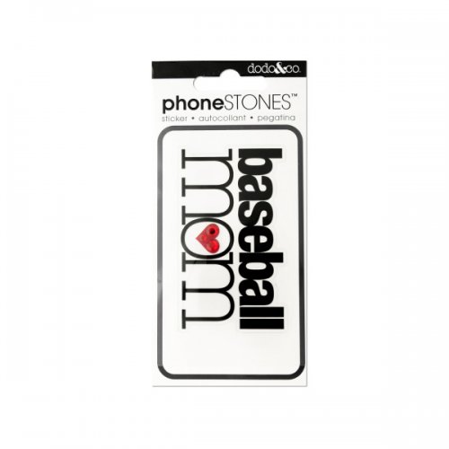 BASEBALL Mom Phone Stones Sticker