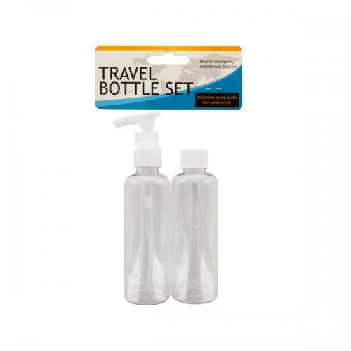 Travel Twist Top & Lotion Pump Bottle Set