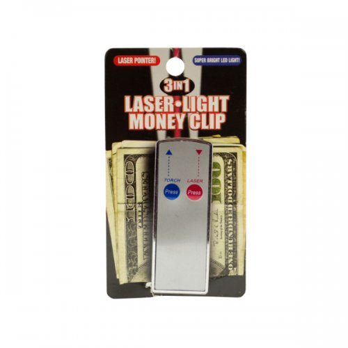 3 In 1 Laser Light Money Clip