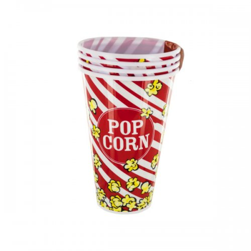 Red Popcorn Bucket Cups Set