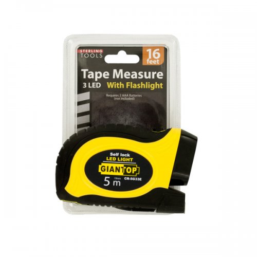 Self-Locking TAPE Measure with LED Flashlight