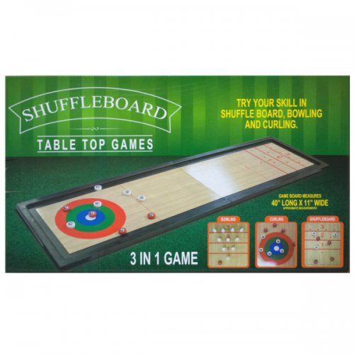 3 In 1 Shuffleboard Tabletop Game