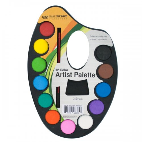 Watercolor PAINT Artist Palette with Mixing Tray