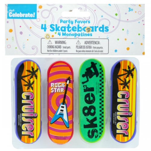 Mini SKATEBOARDs Party Favors