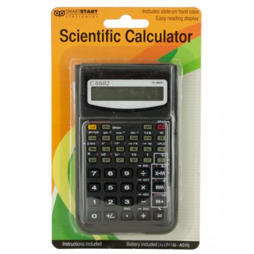 Scientific CALCULATOR with Slide-On Case