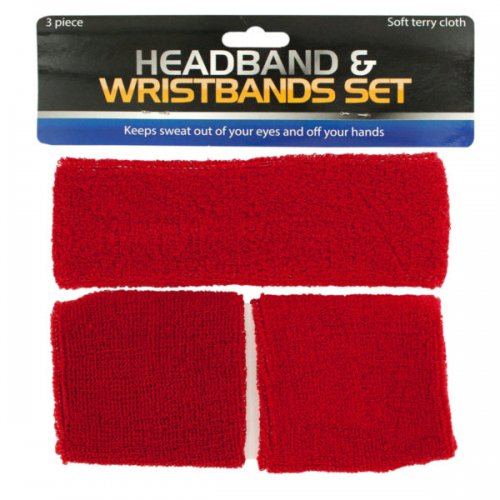 Athletic HEADBAND & Wristbands Set
