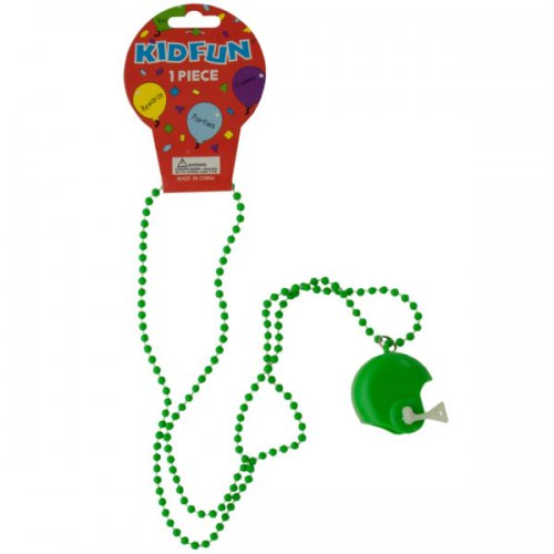Green Football HELMET Party Necklace