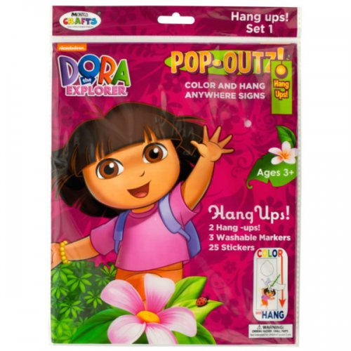 DORA the Explorer Pop-Outz Hang Ups Activity Set