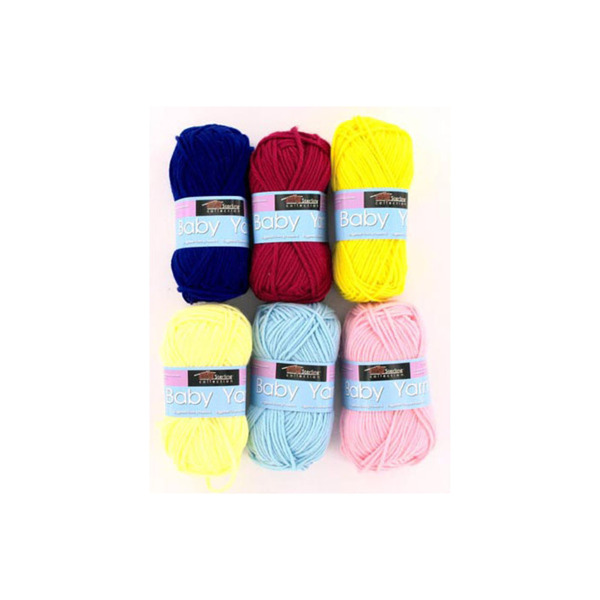 Baby yarn (assorted colors)