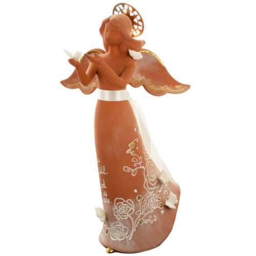 Angel with Butterflies Decorative Clay FIGURINE