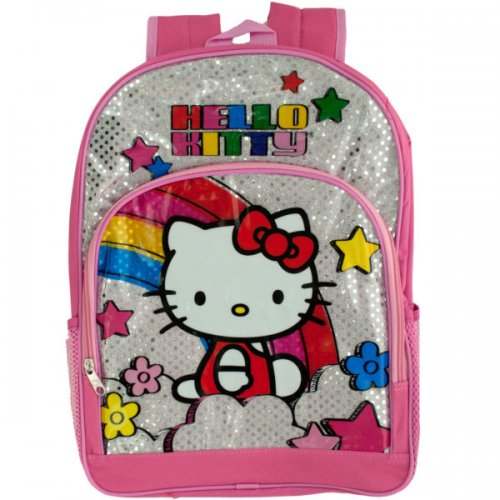 Pink & Silver HELLO KITTY Rainbow Backpack