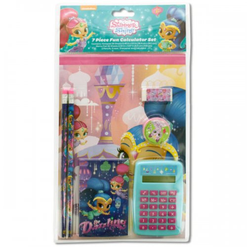Shimmer and Shine Fun CALCULATOR & Stationery Set