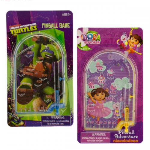 Assorted DORA & Ninja Turtles Licensed Kids' Pinball Game
