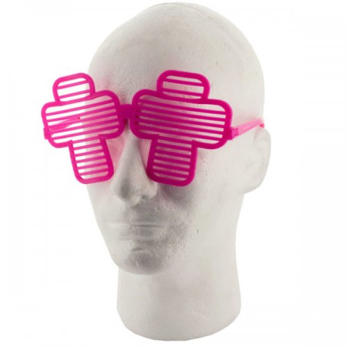 Colored Cross Party Favor Shutter Shades