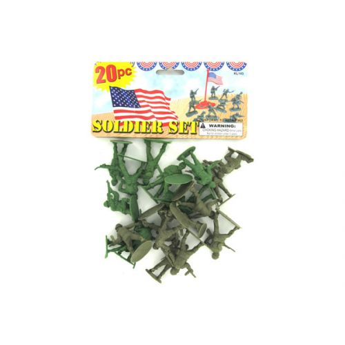 Plastic soldiers play set