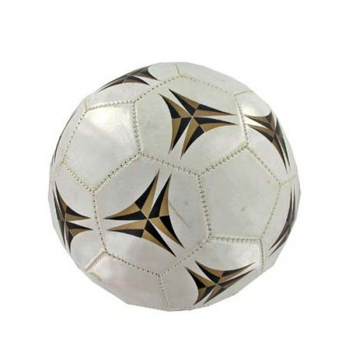 Leather coated white SOCCER ball