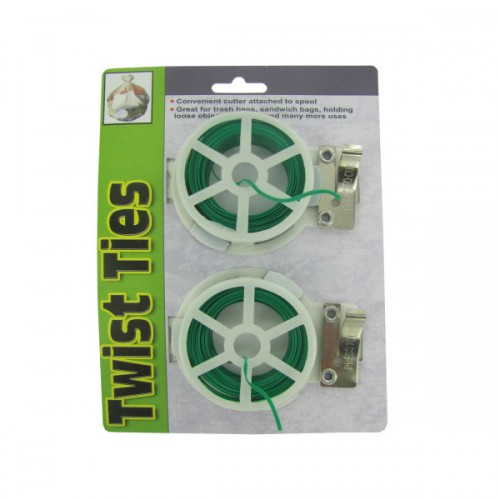 Twist TIE spools with cutter