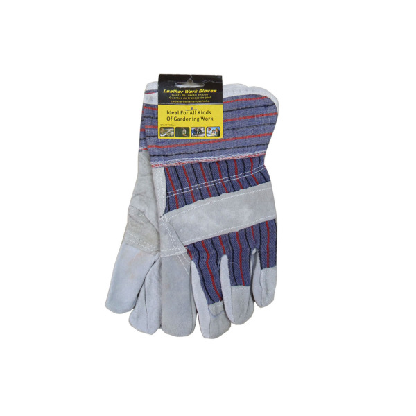 LEATHER work GLOVES, multi-use, 2 pack