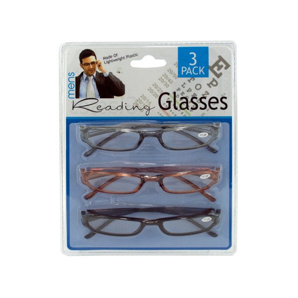3 pack mens reading GLASSES